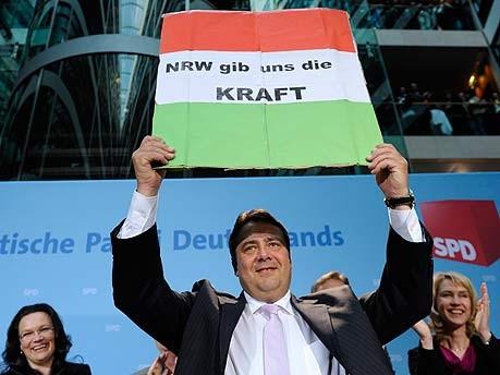 Landtagswahl NRW, Gabriel in Berlin