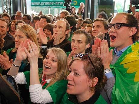 Jubel bei den Grünen, Landtagswahl NRW