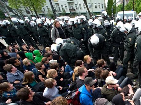 Maidemonstration, Berlin