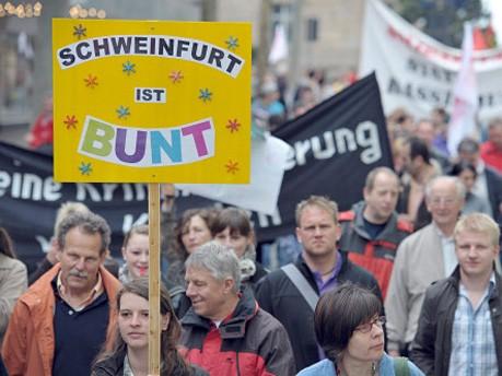Maidemonstration, Schweinfurt