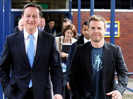 Gary Barlow David Cameron