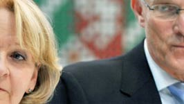 Hannelore Kraft (SPD) und Jürgen Rüttgers (CDU): Werden die beiden demnächst Nordrhein-Westfalen regieren? Foto: dpa