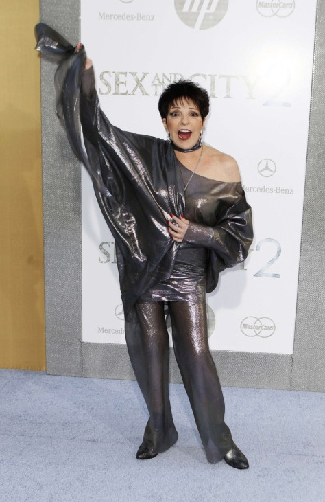 Singer Liza Minnelli arrives for the premiere of the film 'Sex And The City 2' in New York