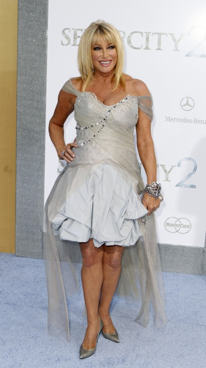 Actress Suzanne Somers arrives for the premiere of the film 'Sex And The City 2' in New York