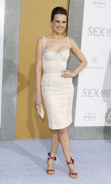 Model Petra Nemcova arrives for the premiere of the film 'Sex And The City 2' in New York