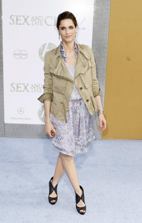Actress Amanda Peet arrives for the premiere of the film 'Sex And The City 2' in New York