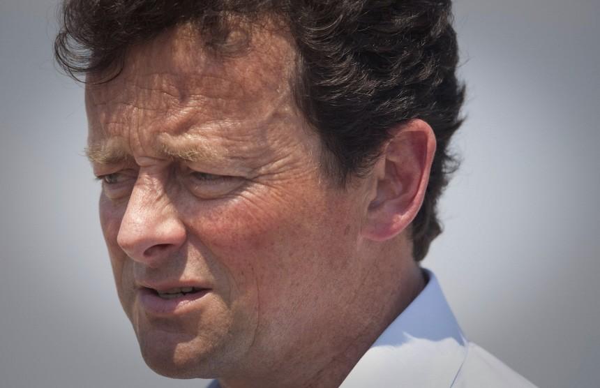 BP CEO Tony Hayward speaks to the media in Port Fourchon