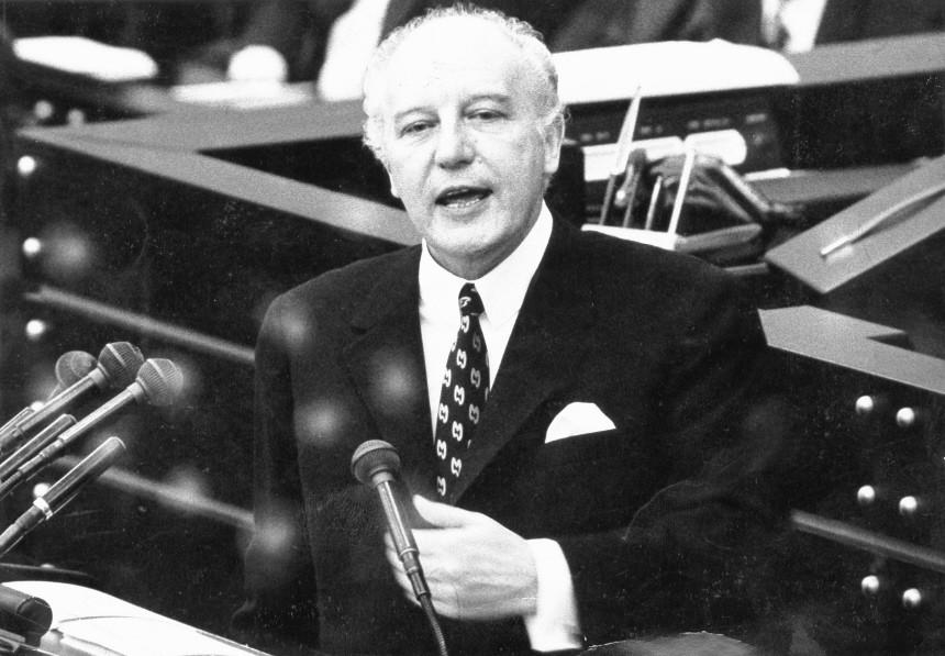 Walter Scheel in der Debatte der Ostverträge, 1972