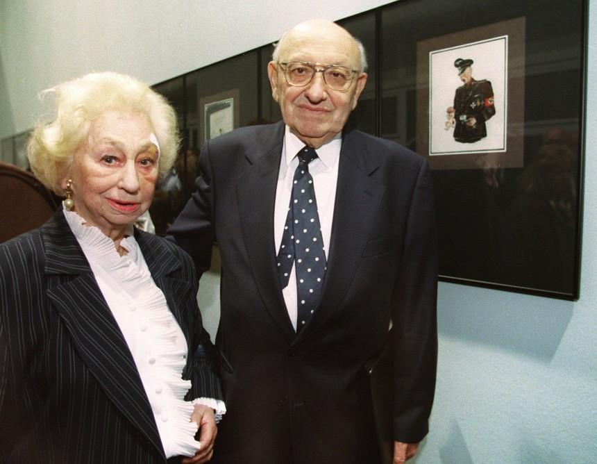 Literaturkritiker Marcel Reich-Ranicki und seine Frau Teofila, 1999