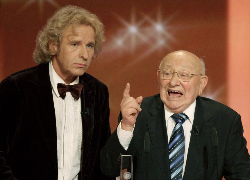 Literaturkritiker Marcel Reich-Ranicki bei der Verleihung Deutscher Fernsehpreis