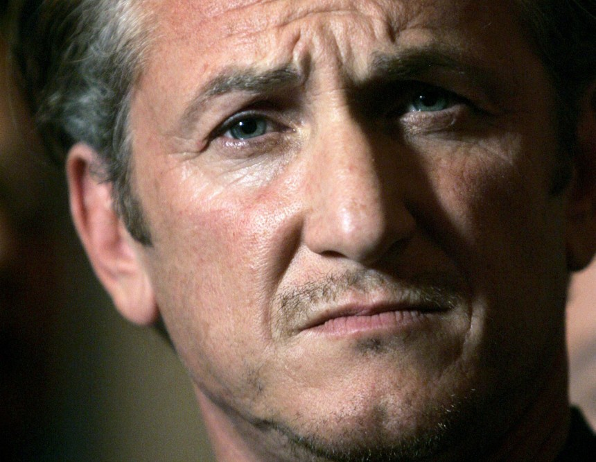 File photo of Academy Award winning actor Sean Penn listens during news conference in San Francisco