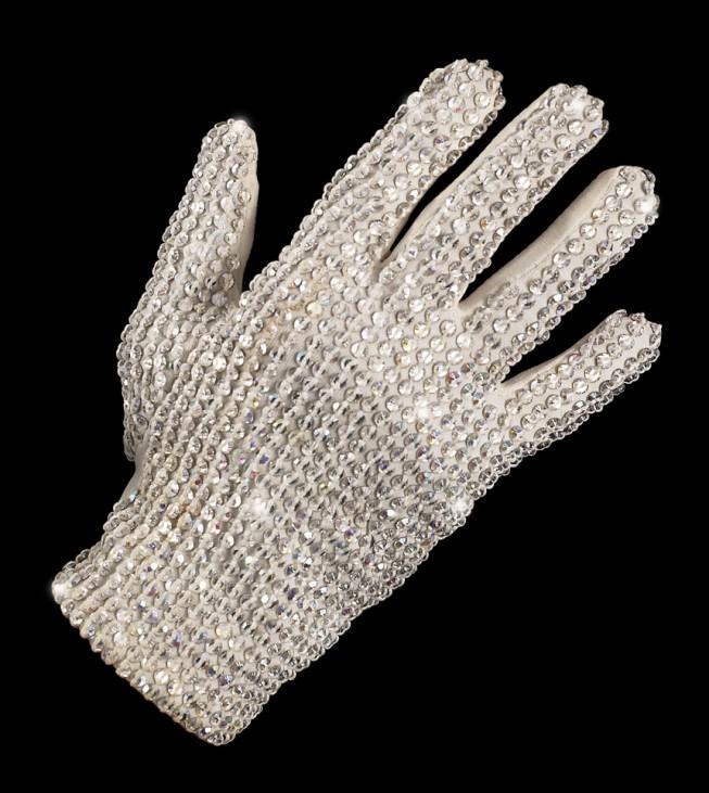 Weißer Jackson-Handschuh vor Verteigerung