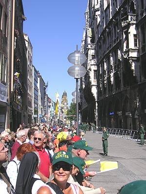 Papstbesuch Marienplatz