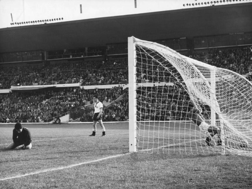 FUßBALL-WM '62  0:1-TOR FÜR JUGOSLAWIEN