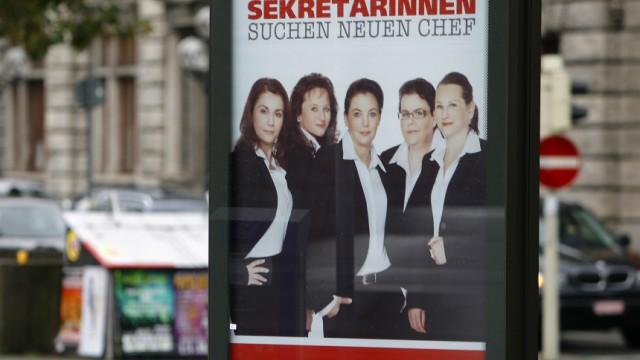 Plakataktion von Quelle-Sekretärinnen