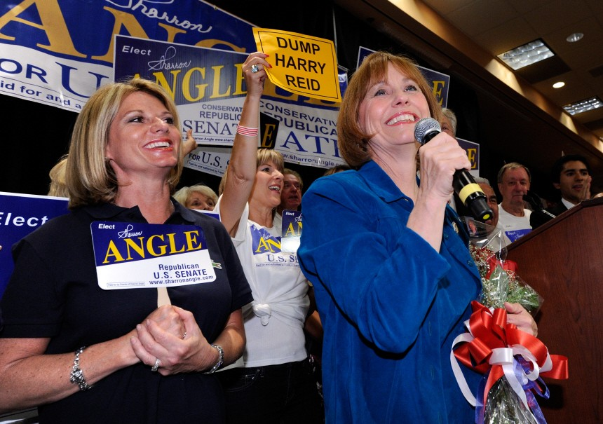 Tea Party Express Candidate Sharron Angle Wins GOP Senate Primary In Nevada