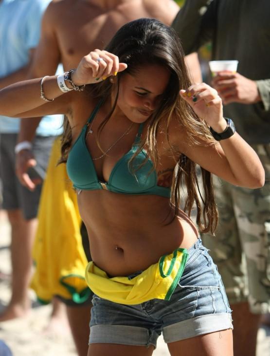 Fan Fest on the beach of Copacabana in Rio de Janeiro