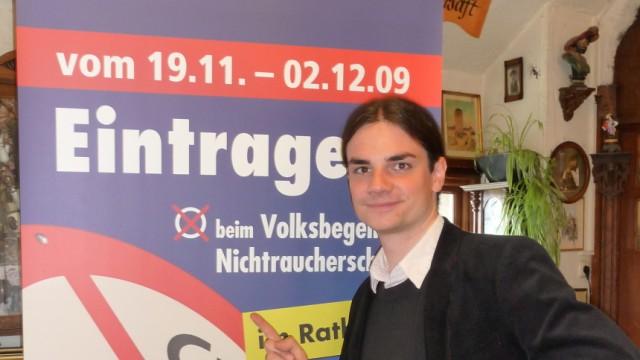 Rauchverbot: Eckt in seiner Heimat an: der Initiator des rigorosen Rauchverbots in Bayern, Sebastian Frankenberger.