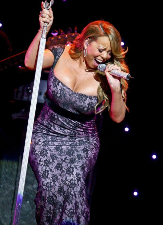 Mariah Carey entertains  shareholders at Wal-Mart Stores Inc's annual general meeting in Fayetteville, Arkansas
