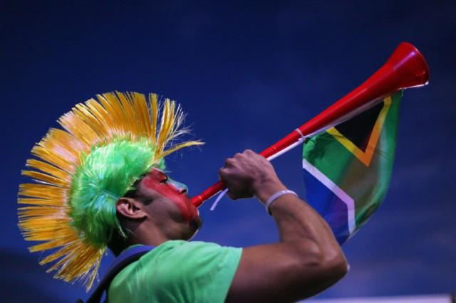 Football Fans Watch South Africa V Uruguay