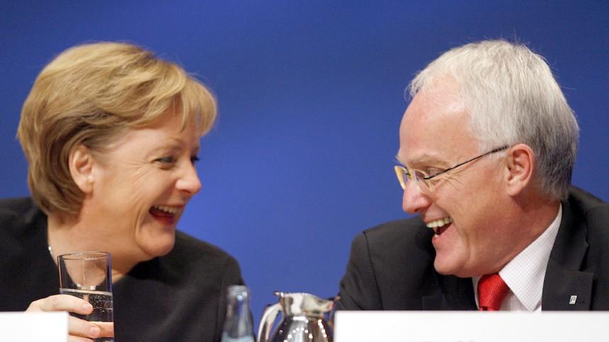 CDU-Parteitag - Merkel und Rüttgers