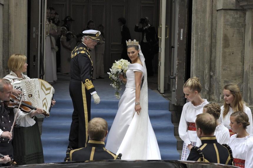 Hochzeit Prinzessin Victoria - Ankunft Braut