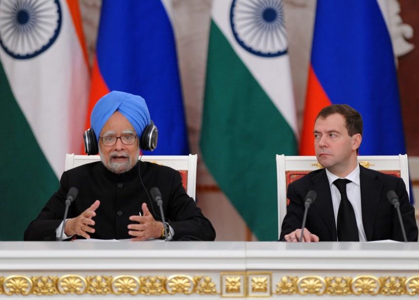 Indiens Ministerpräsident Singh besucht Russland