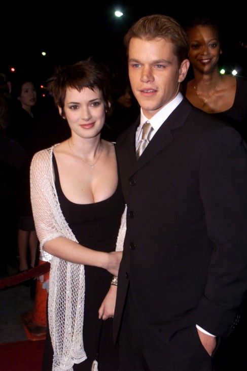 FILE PHOTO OF ACTOR MATT DAMON AND WINONA RYDER AT PREMIERE