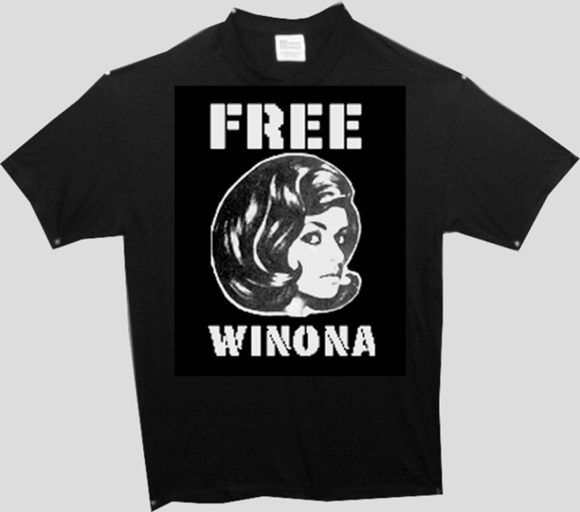 WINONA RYDER T SHIRT CAMPAIGN