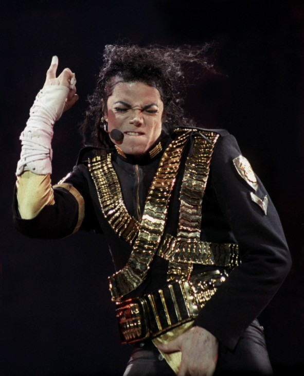 File photo of pop superstar Michael Jackson performing in Sao Paulo