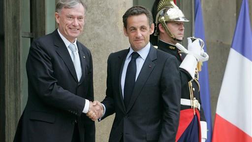 Horst Köhler Nicolas Sarkozy Präsident Staatsoberhaupt