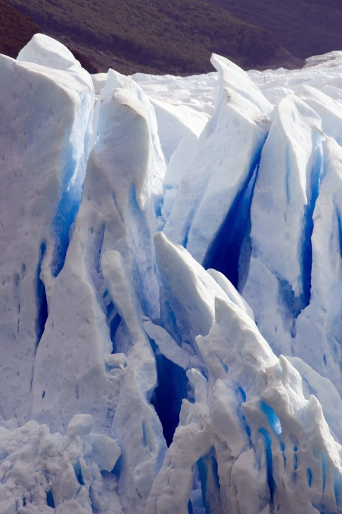 View of part of Argentina's Perito Moreno glacier near the city of El Calafate