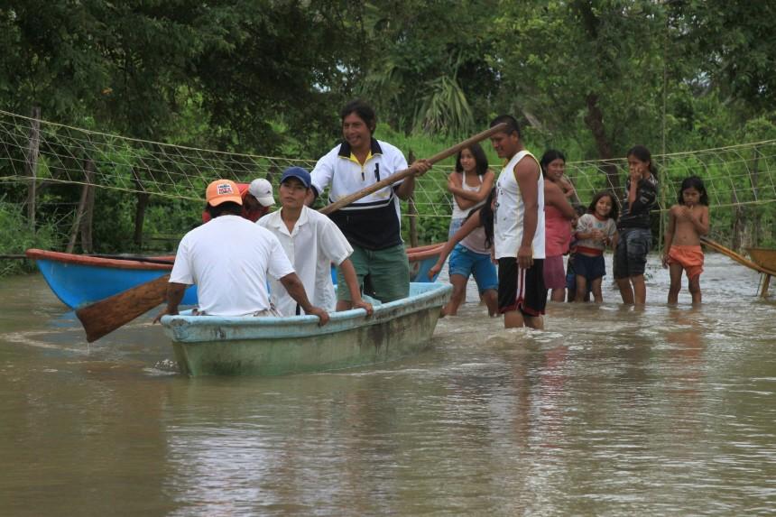 Tropensturm 'Alex' verursacht Hochwasser in Mexiko