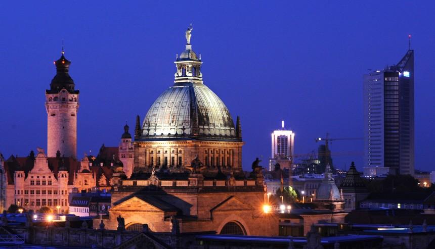 Leipzig vor Lichterfest zum Jahrestag