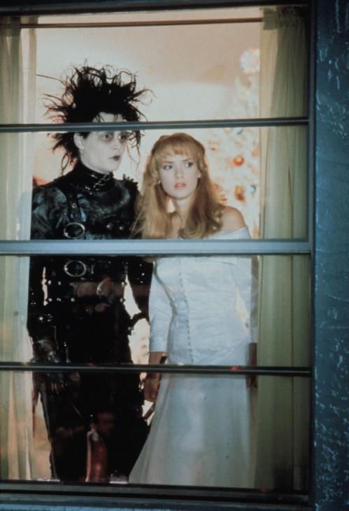 """Johnny Depp und Winona Ryder in """"Edward mit den Scherenhänden"""", 1990"""