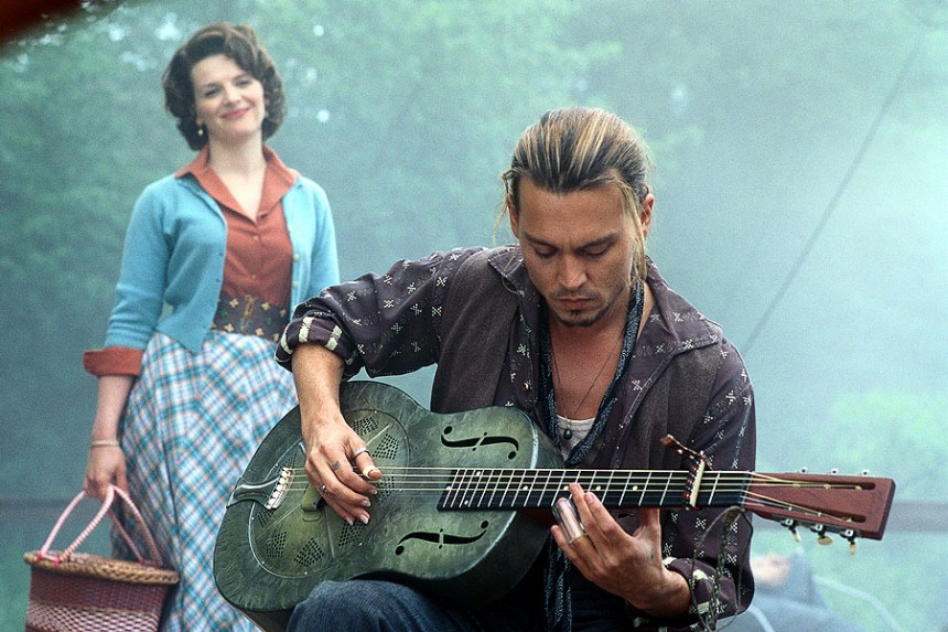 "Juliette Binoche und Johnny Depp in ""Chocolat"", 2000"