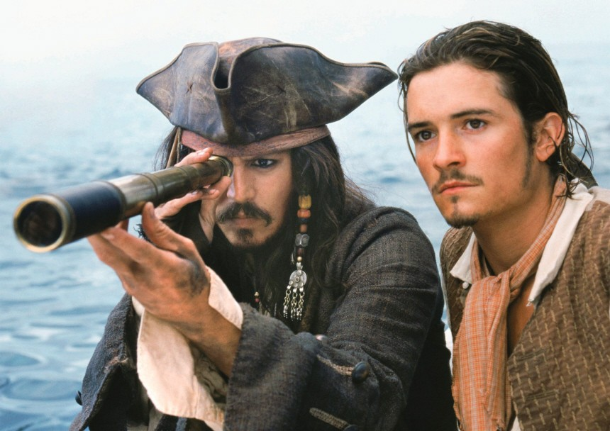 "Johnny Depp und Orlando Bloom in ""Fluch der Karibik"", 2003"