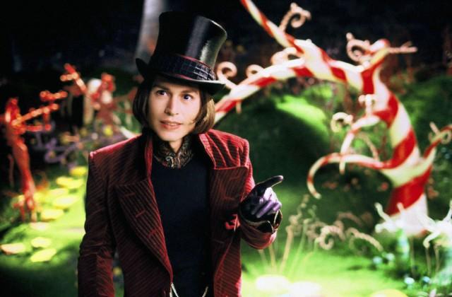 """Johnny Depp als Willy Wonka in """"Charlie und die Schokoladenfabrik"""""""