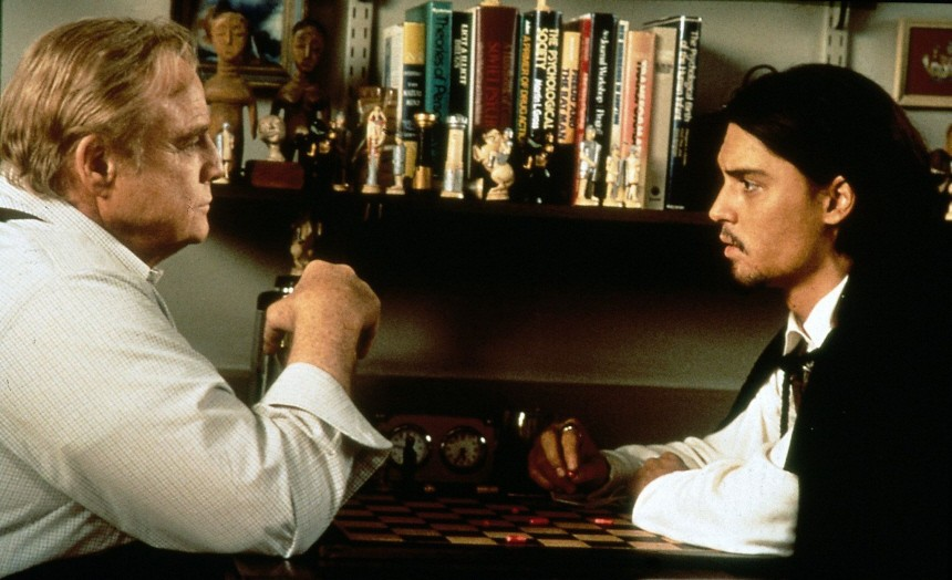 "Marlon Brando und Johnny Depp in ""Don Juan DeMarco"", 1995"