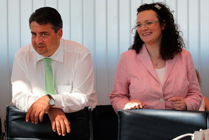 SPD-Präsidium Nahles Gabriel