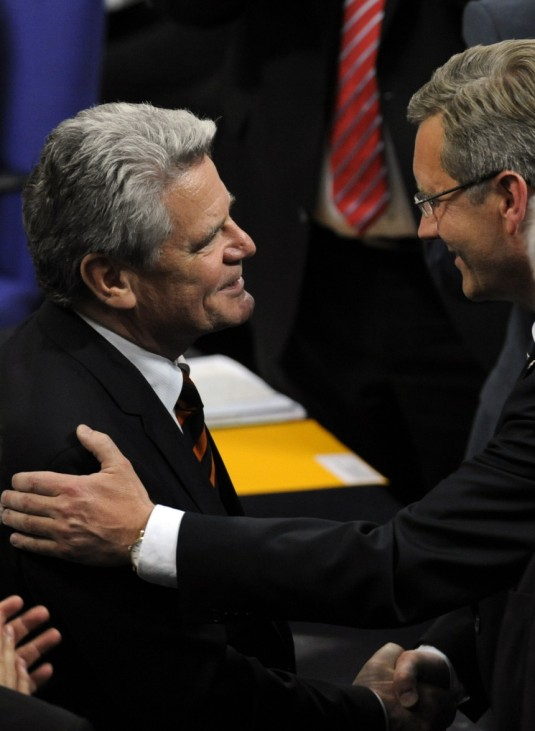 Joachim Gauck, Christian Wulff