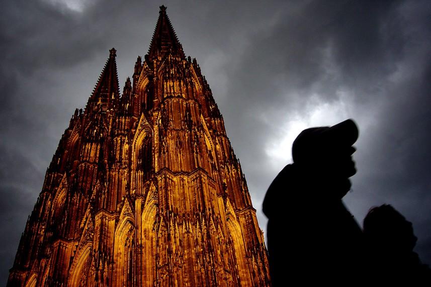 Dom in Köln im Abendlicht