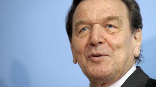 Ex-Kanzler Schörder bei Eurogruppen-Präsident Jean-Claude Juncke