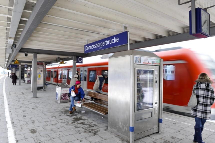 S-Bahn-Haltestelle Donnersbergerbrücke in München, 2010