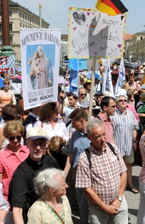 Solidaritätskundgebung für den Papst