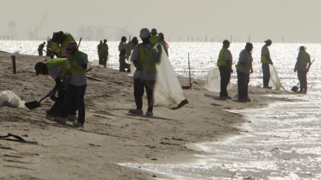 Ölpest im Golf von Mexiko - Strand von Mississippi