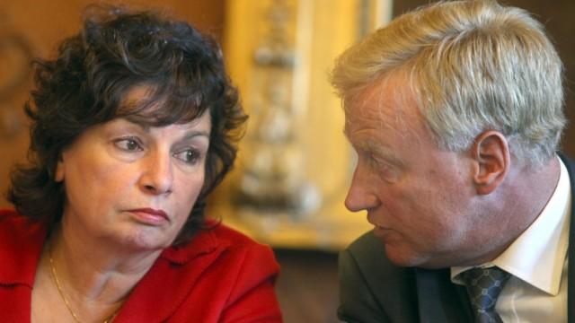 Schwarz-grüne Polit-Partner Christa Goetsch (GAL) und Ole von Beust (CDU).