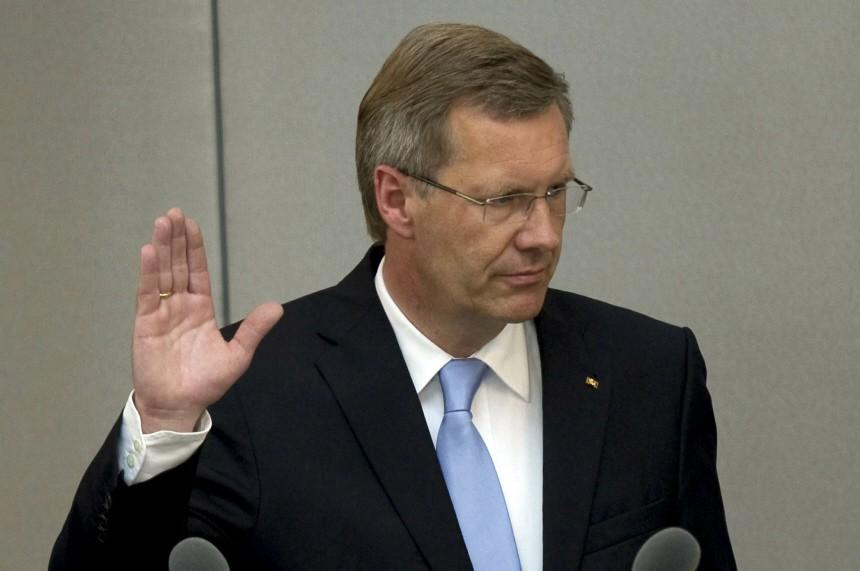 Kinderdienst: Christian Wulff ist neuer Bundespraesident
