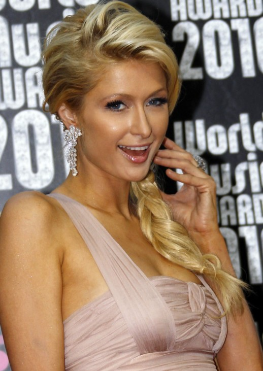 Paris Hilton arrives at the World Music Awards in Monte Carlo