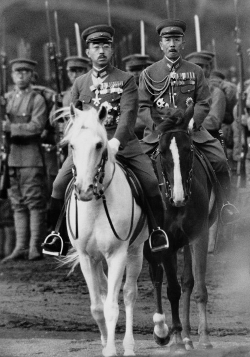 Kaiser Hirohito bei einer Parade, 1940